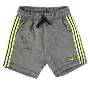 Particolare pantalone corto in felpa leggera con cavallo calato ido NERO-0658