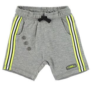 Particolare pantalone corto in felpa leggera con cavallo calato ido GRIGIO MELANGE-8992