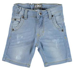 Pantalone corto in felpa effetto denim ido DENIM CHIARO-7113