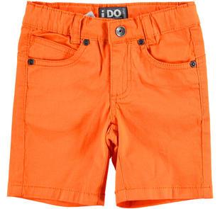 Pantalone corto in twill stretch di cotone ido ARANCIO-1865