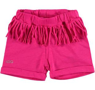 Comodi shorts 100% cotone con frange ido FUXIA-2438