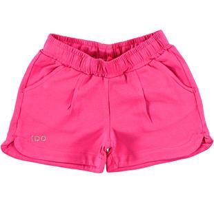 Shorts in tinta unita per bambina ido FUXIA-2438