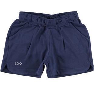 Shorts in tinta unita per bambina ido NAVY-3854