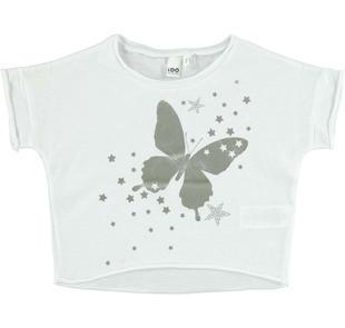Particolare t-shirt con maniche a pipistrello ido BIANCO-0113