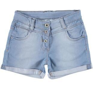 Shorts in denim delavato per bambina ido DENIM CHIARO-7113