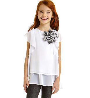Completo maxi camicia e leggins glitter ido BIANCO-NERO-8057
