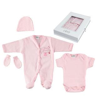 Corredino 100% cotone per bambini prematuri ido LIGHT PINK-5819