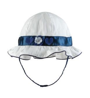Cappellino neonata in popeline di cotone con tesa arricciata 2747c574a28e