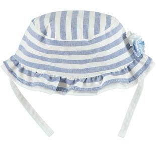 Cappellino rigato con tesa arricciata ido AVION-3642