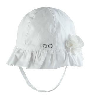 Cappellino bimba in popeline 100% cotone ido BIANCO-0113
