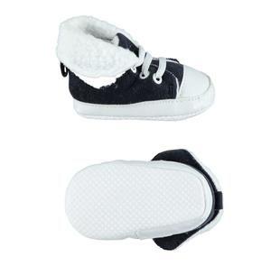 Calde e morbidissime scarpe neonato in velluto a coste ido NAVY-3856