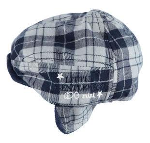 Cappello neonato modello coppola in morbida flanella ido NAVY-3856