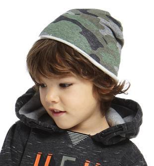 Cappellino modello cuffia fantasia mimetica ido GRIGIO-VERDE-6EH6