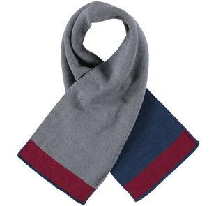 Sciarpa in tricot misto lana a righe ido GRIGIO MELANGE-8970