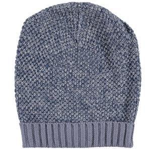 Cappellino in tricot misto cotone e lana ido NAVY-3856