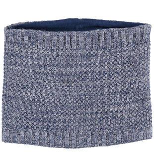 Morbido collo in tricot misto cotone lana ido NAVY-3856