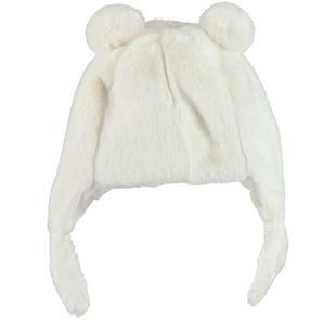 Cappellino in ecopelliccia con pompon per neonata ido PANNA-0112