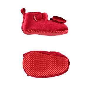 Scarpine in velluto rosso per neonata ido