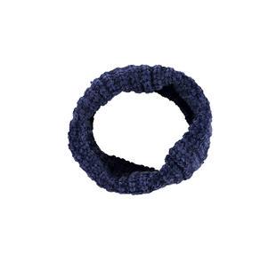 Morbida sciarpa ad anello in ciniglia ido NAVY-3854