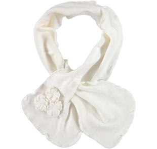 Sciarpa in tricot con roselline ido PANNA-0112