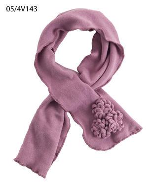 Sciarpa in tricot con roselline ido ORCHIDEA-2746