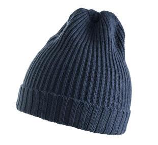 Cappellino modello cuffia lavorato a coste ido NAVY-3856