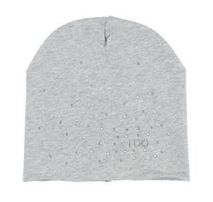 Cappellino con strass e borchiette ido GRIGIO MELANGE-8992