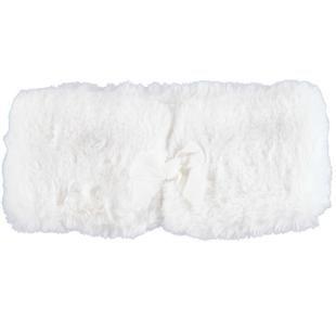 Collo in morbida pelliccia sintetica con fiocco ido PANNA-0112