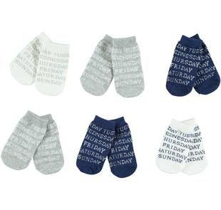 Simpatico kit di calze per neonato ido PANNA-GRIGIO-8131