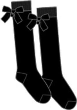 Calze al ginocchio con fiocchi ido NERO-0658