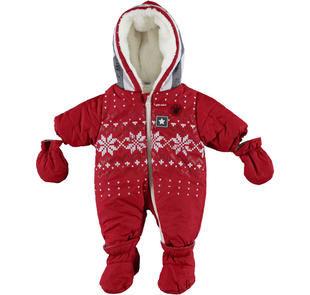 Tutone termico imbottito per neonato ido ROSSO-2536