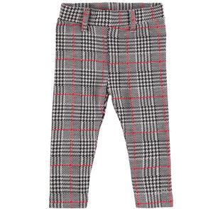 Pantalone per bambina fantasia principe di Galles ido NERO-0658