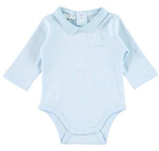 Body in caldo cotone con colletto per neonato ido SKY-5818