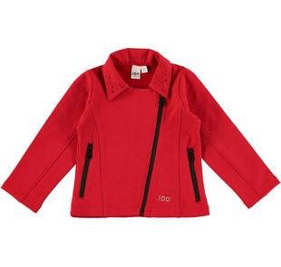 Giacchetto rosso in felpa per bambina modello biker ido ROSSO-2253