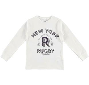 Calda maglietta girocollo tema sportivo ido PANNA-0112