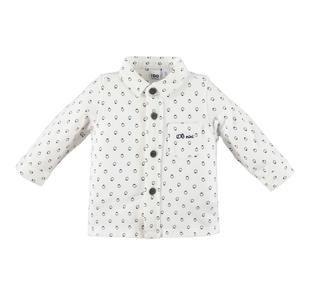 Camicia neonato in cotone stretch con fantasia pinguini ido PANNA-NAVY-6EM3