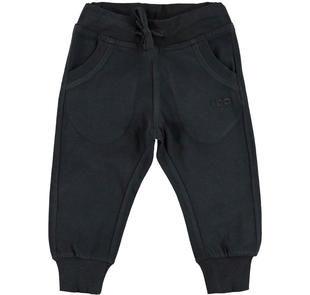 Pantalone in jersey pesante tinta unita ido NERO-0658