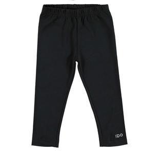 Leggings in jersey stretch di cotone smerigliato ido NERO-0658