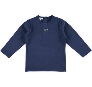 Maglietta girocollo in jersey stretch tinta unita ido NAVY-3854