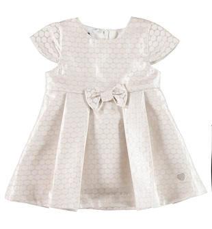 Elegante vestitino con fiocco ido ROSA CIPRIA-ARGENTO-6X33