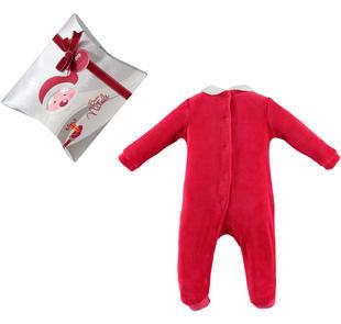 Idea regalo: tutina neonata con fiocco di strass ido ROSSO-2253