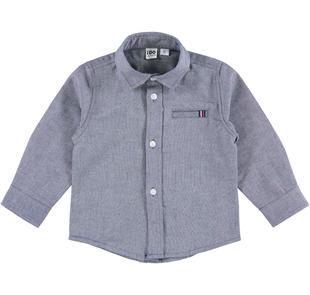 Camicia 100% cotone con inserti rigati ido NAVY-3856