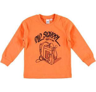Comoda maglietta per bambino in jersey mano calda ido ARANCIO-1828