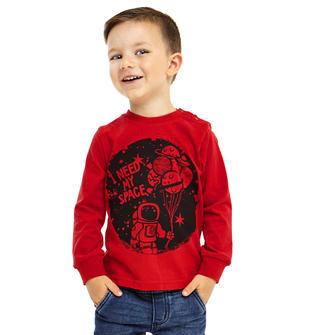 Comoda maglietta per bambino in jersey mano calda ido ROSSO-2253