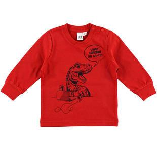 Maglietta con simpatica stampa fumetto ido ROSSO-2253
