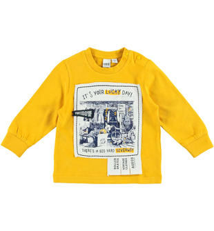 Allegra maglietta  in jersey smerigliato 100% cotone ido GIALLO-1615
