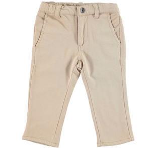 Pantalone slim fit in felpa modello chinos ido BEIGE-0471