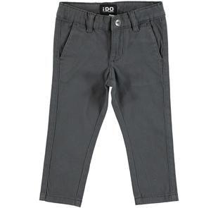 Pantalone slim fit in twill stretch di cotone modello chinos ido GRIGIO-0567