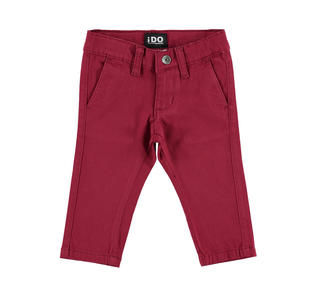 Pantalone slim fit in twill stretch di cotone modello chinos ido BORDEAUX-2546