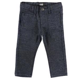 Morbido e caldo pantalone in twill effetto screziato ido NAVY-3856